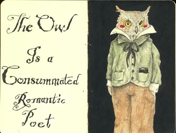 The Owl by LadyOrlandoArt