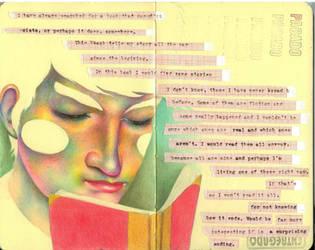 Reading - Journal by LadyOrlandoArt