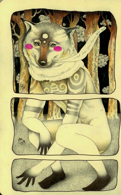 Lobo Totem by LadyOrlandoArt