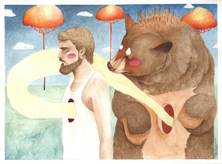 El Oso en mi by LadyOrlandoArt