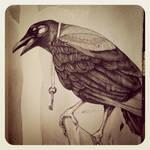 Crow by LadyOrlandoArt