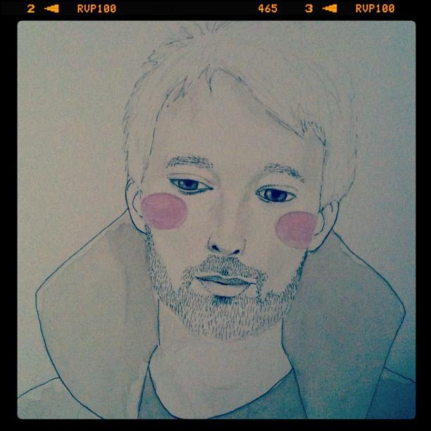 Thom Yorke's portrait WIP by LadyOrlandoArt
