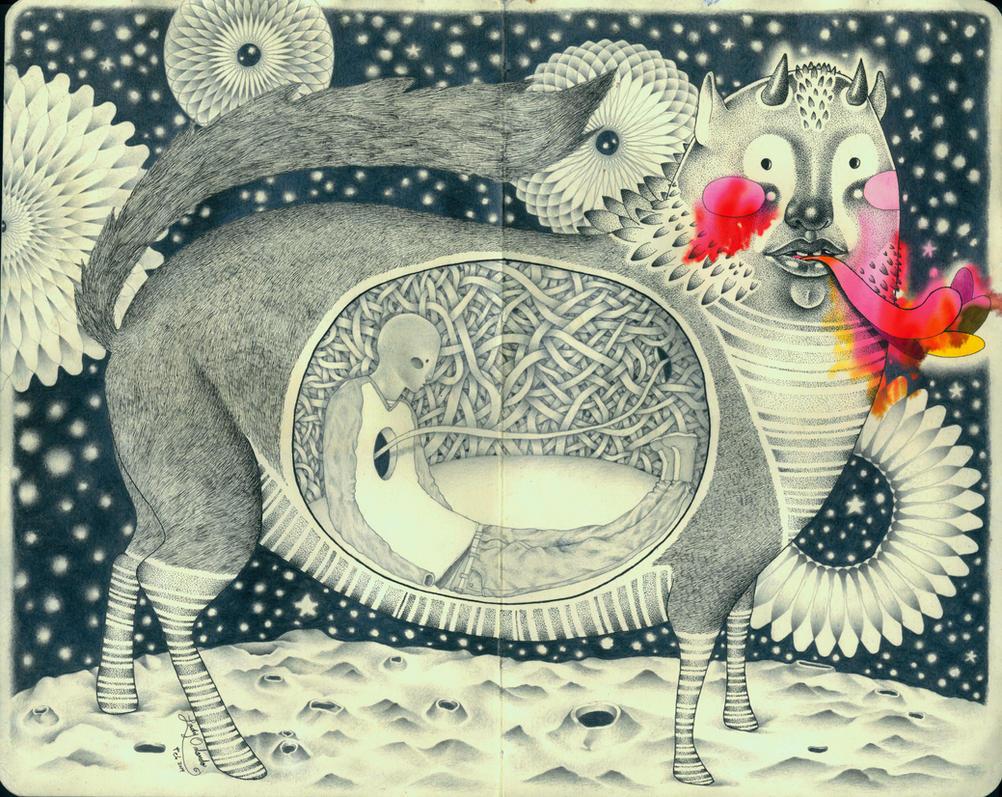Inner beast by LadyOrlandoArt