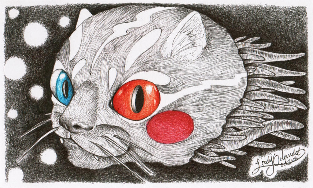 Haunted cat by LadyOrlandoArt