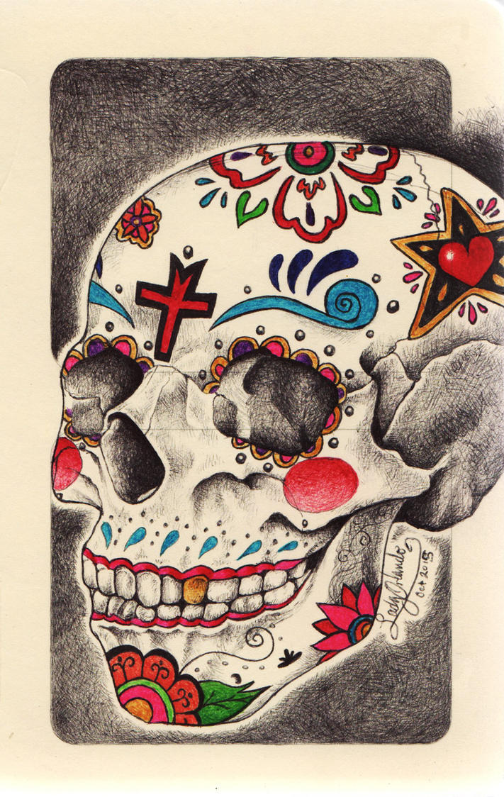 Calaverita de dulce / Sugar skull by LadyOrlandoArt
