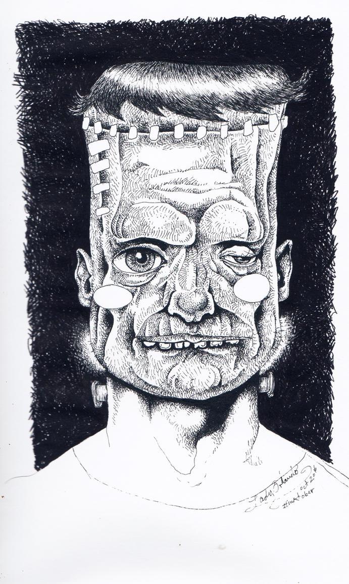 Frankenstein by LadyOrlandoArt
