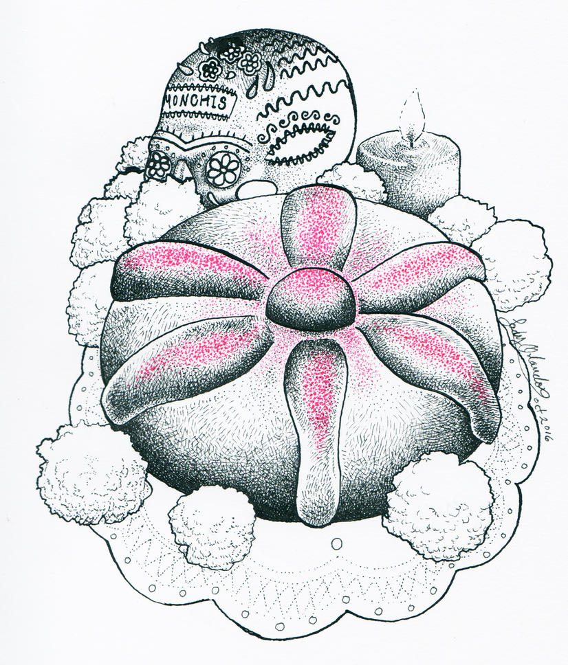 Pan de muerto by LadyOrlandoArt