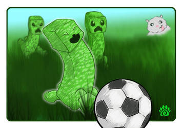 Creeper Soccer by dream-paw