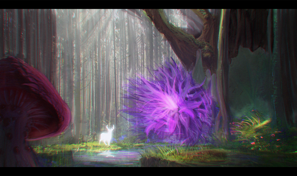 Calm in the forest (PSD in the details)