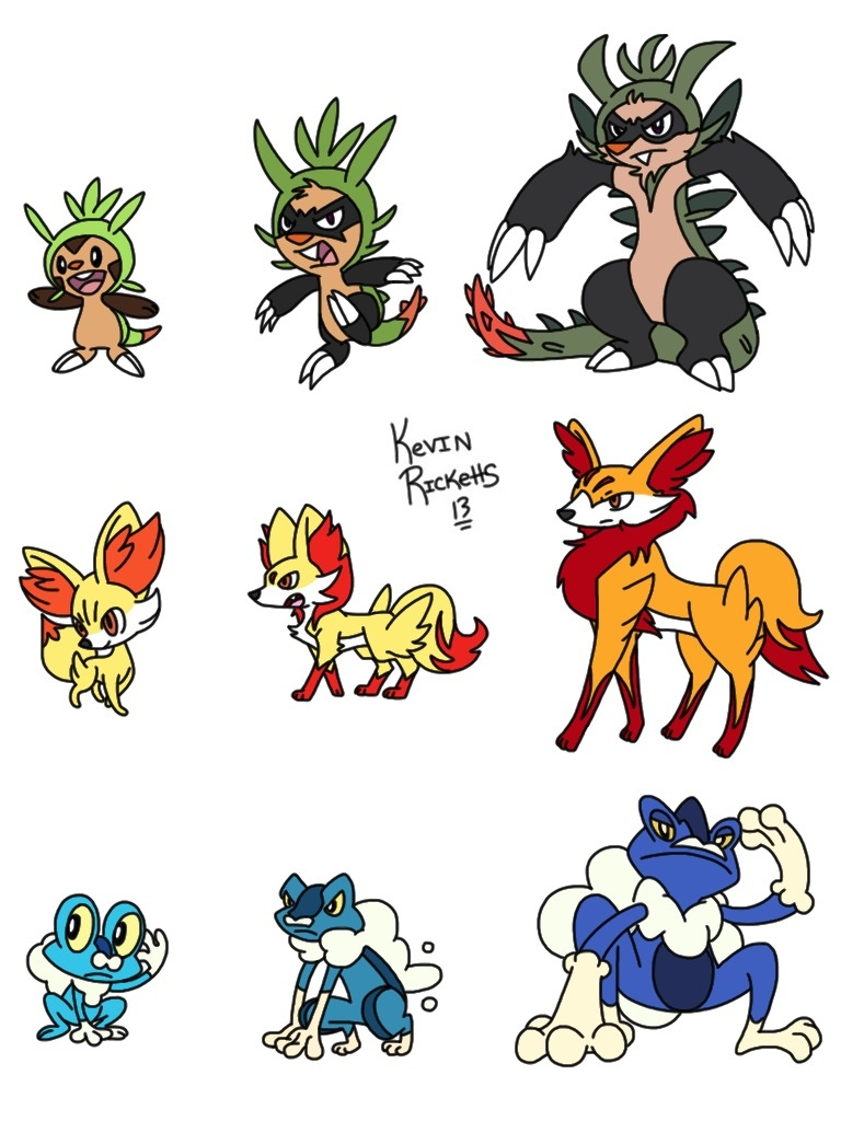 Pokemon X And Y Starter Evolutions Images | Pokemon Images