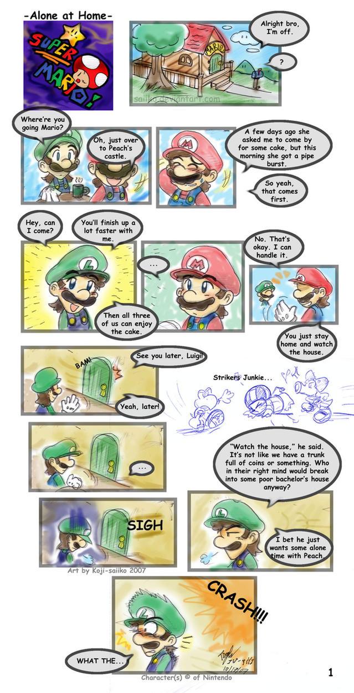 Mario Alone At Home Pg 01 By Saiiko On Deviantart
