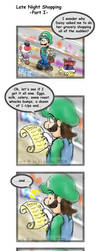 Mario: Late Night Shopping pg1 by saiiko