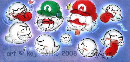 Mario: Boo Attraction by saiiko