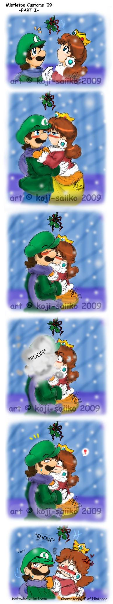 Mario: Mistletoe Customs '09A by saiiko