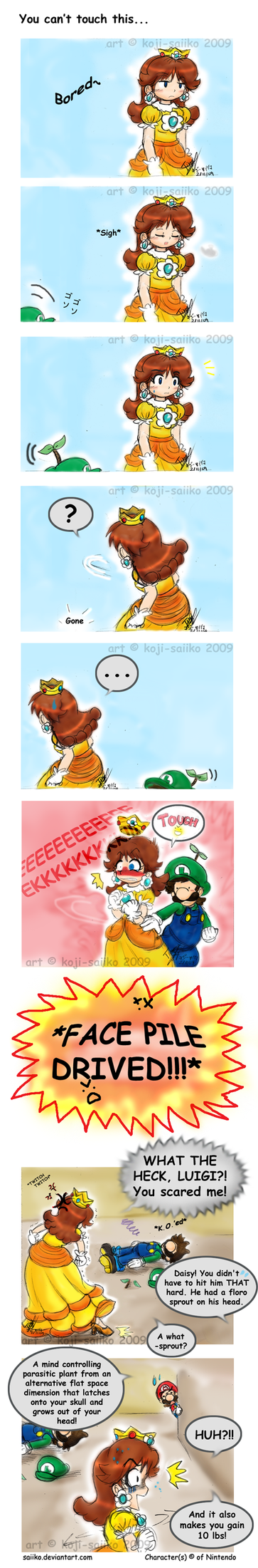Mario: You can't touch this.. by saiiko