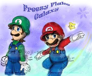 Mario: Freezy Flake Galaxy by saiiko
