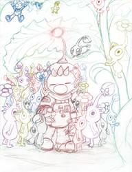 Pikmin: Gathering by saiiko
