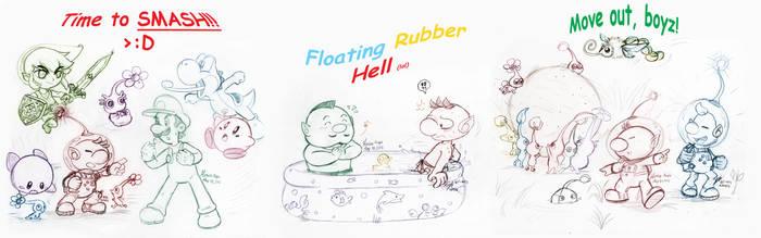 Pikmin: -COLLAB 2016- Pikmin Smash Pool by saiiko