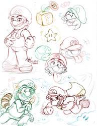 Mario: Doodlz - Dem' Bros by saiiko