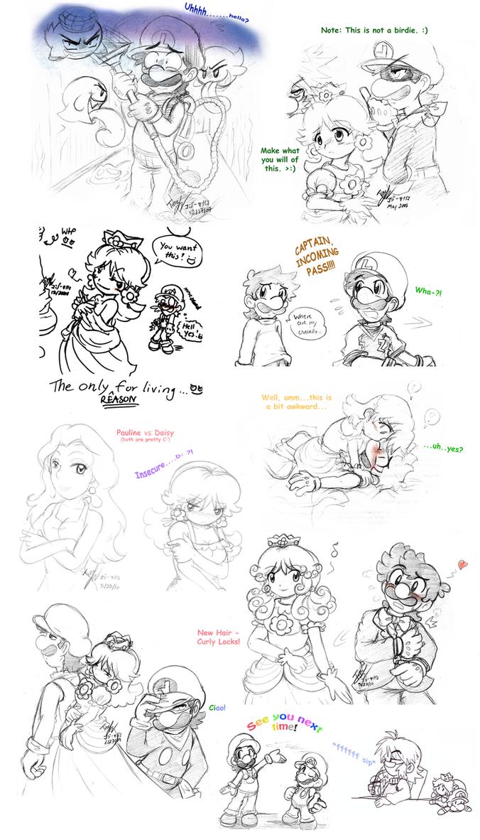 Mario: Collage Art Dump 2 by saiiko