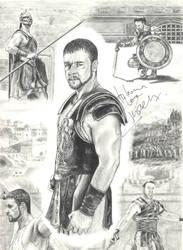Russell Crowe as Gladiator by InmaculadaGil