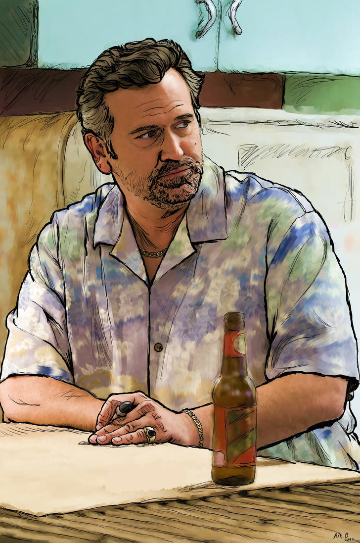 Sam Axe Burn Notice Painting by MandieMarie