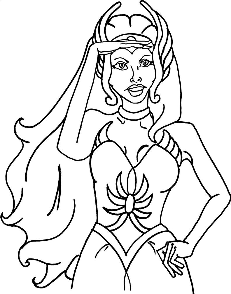 She ra coloring page by mandiemarie on deviantart Xena coloring book