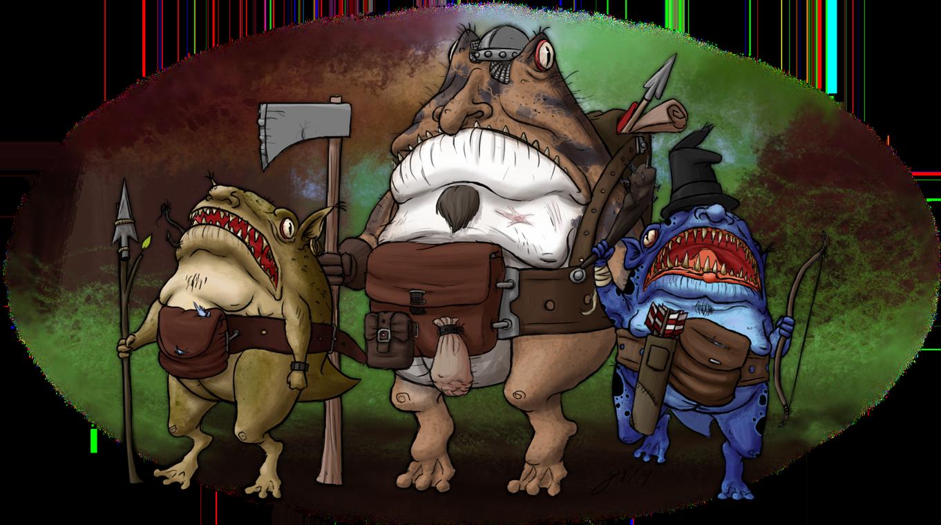 RPG Creatures 1 - Froblins by Brett-Neufeld