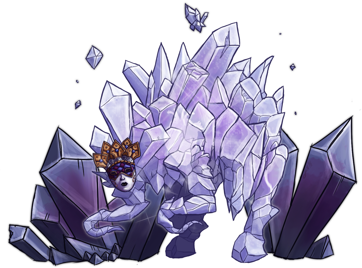RPG Creatures 2 - Crystal Frog by Rocktopus64