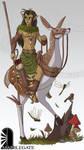 Wood Elf Cavalier by Brett-Neufeld