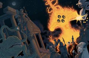 Battle in the Ruins by Brett-Neufeld