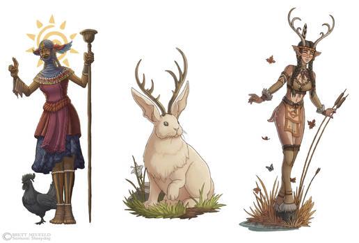 Mythos - Orisha, Jackalope, Deer Woman