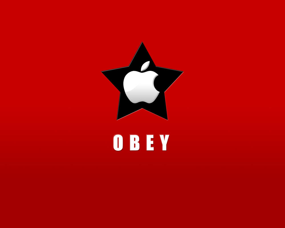 Obey Apple -red- by tch
