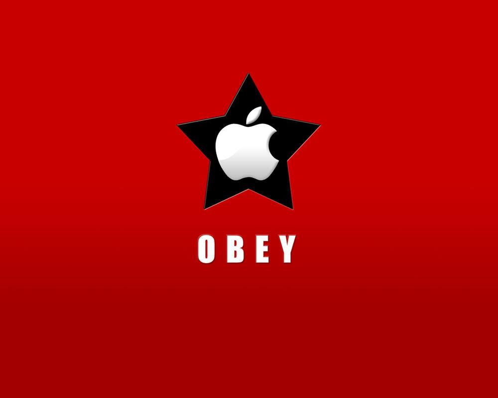 Obey Apple -red- by tch