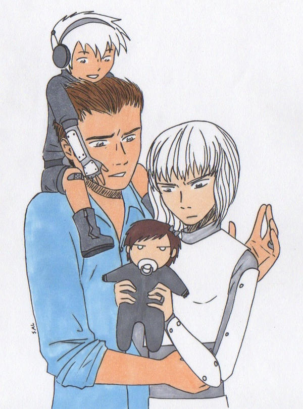 The MegaGirl Family by PerseusXAndromeda
