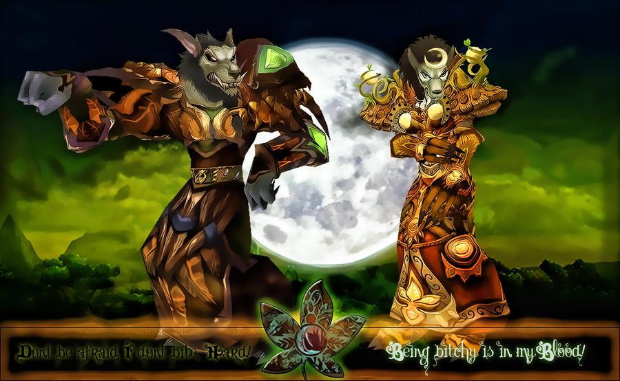 Worgen Druids by Aryiana-dzyn