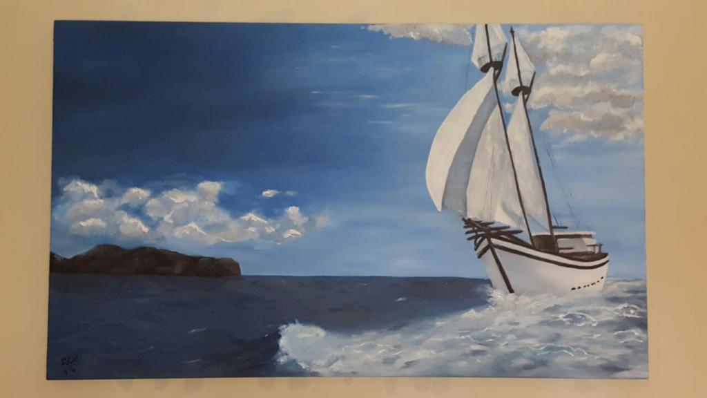 Yacht - Oil Paitning by Aryiana-dzyn