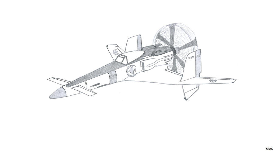 Sky Crawlers plane artwork - Rostock Sanka Mk. B by Kenisi