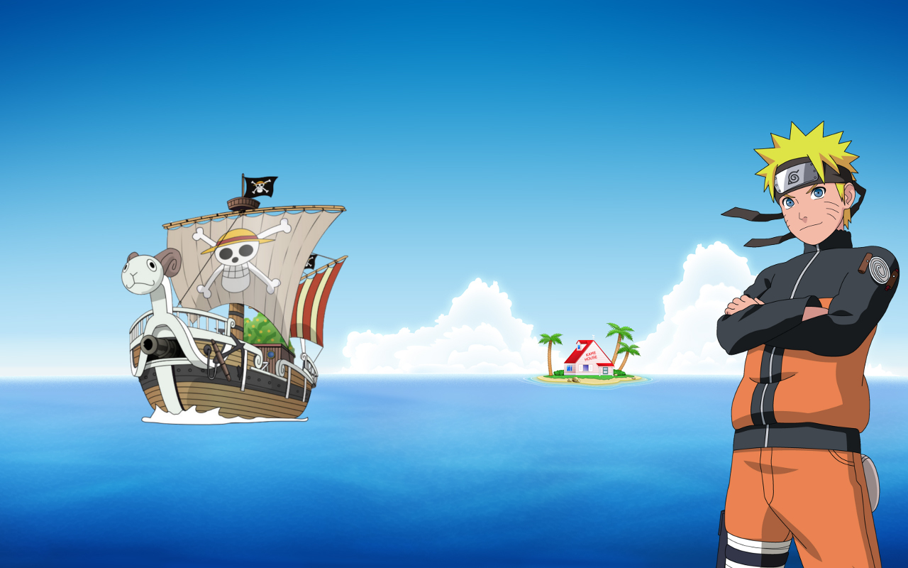 Wallpaper One Piece Dragon Ball Naruto By Andrep25 On Deviantart