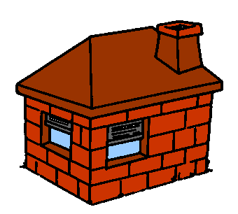 casa tijolo brick house three little pigs by andrep25 on deviantart rh deviantart com old brick house clipart