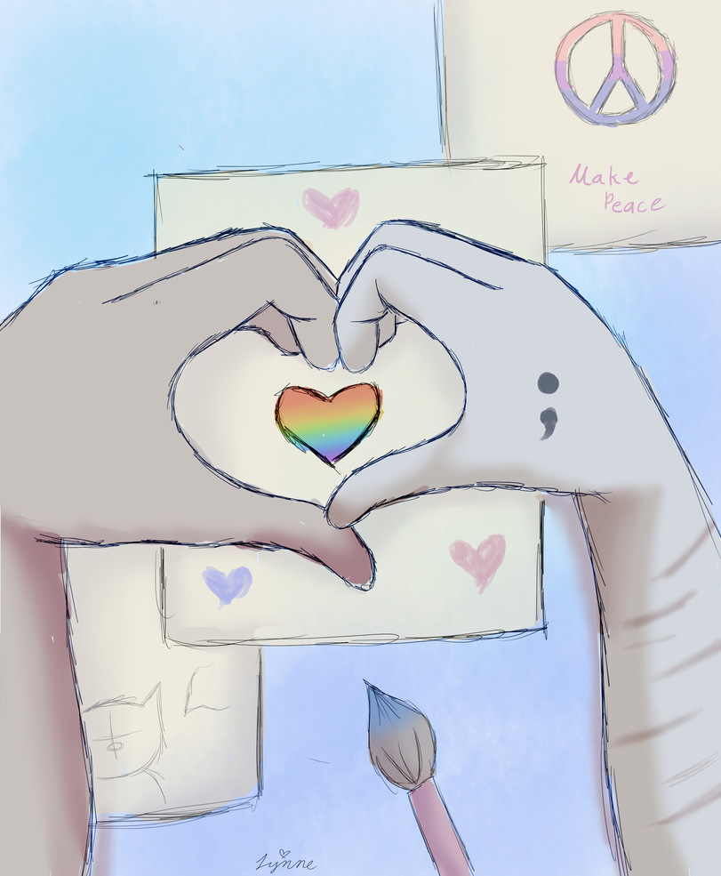 Love + Art = Peace by CountessGrace