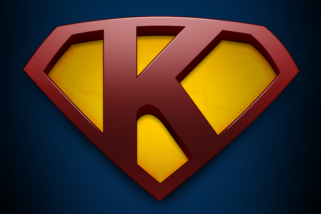 √ Superman Logo With K