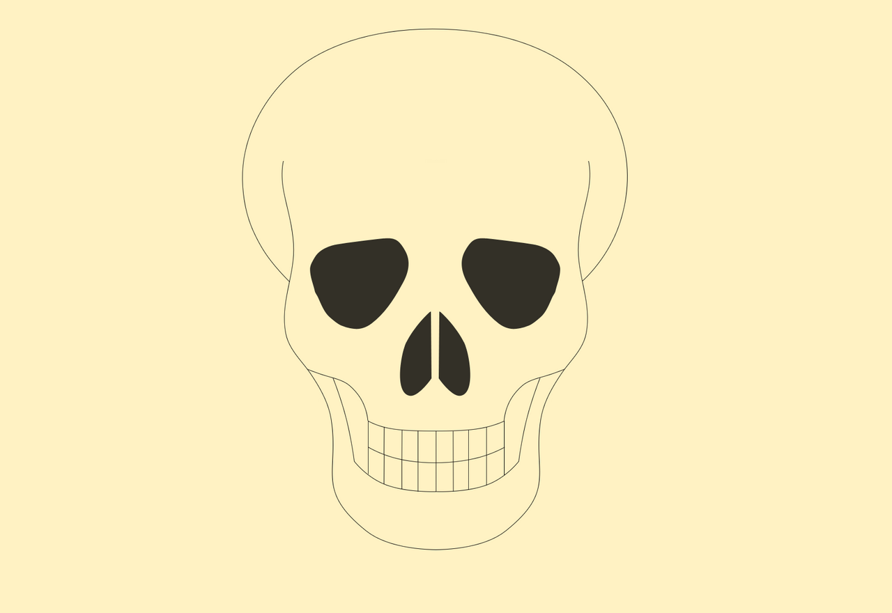 simple skull drawings - 1078×741