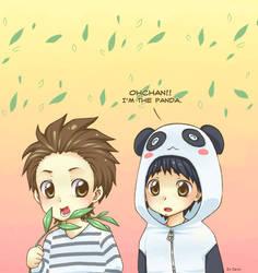 Ohchan, pandas eat grass.