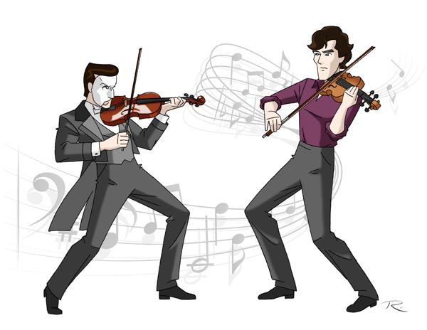 Violin Duel by Raphael2054