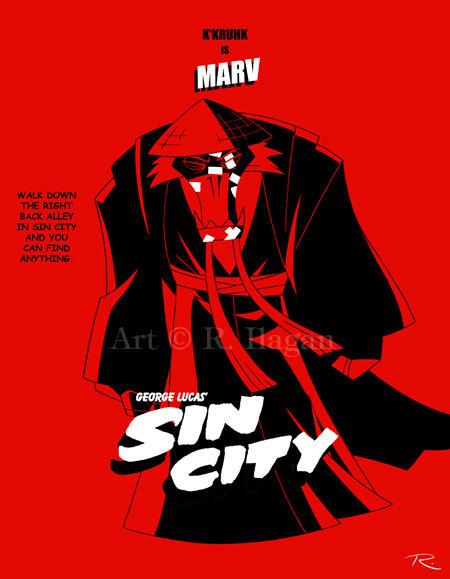 George Lucas' Sin City: Marv by Raphael2054