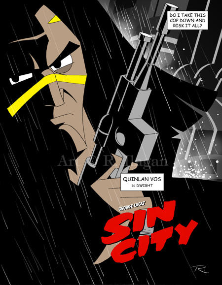 George Lucas' Sin City: Dwight by Raphael2054
