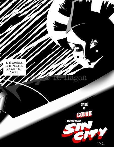 George Lucas' Sin City: Goldie by Raphael2054