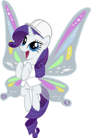 Rarity with wings by hokutto