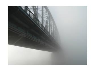 misty bridge by JoannaRzeznikowska
